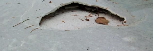 Delamination of Pool Plaster
