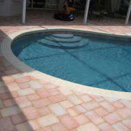 Panama pool finish cream coping